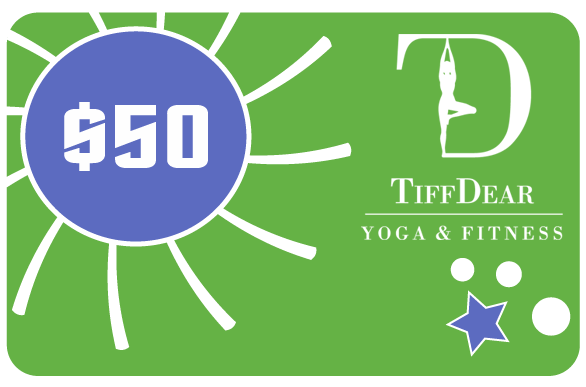 $50 Gift Card for Yoga Classes & Clothing